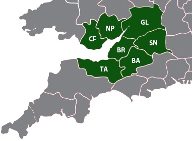 We cover the South West of England
